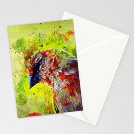 spotted madagascar fody wsstd Stationery Cards