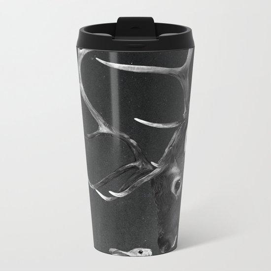 Elk and Rabbit Metal Travel Mug