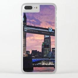 London tower bridge Clear iPhone Case