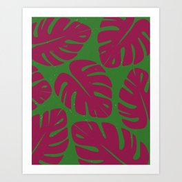 Monstera Leaf Print 4 Art Print