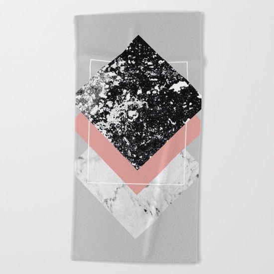 Geometric Textures 1 Beach Towel