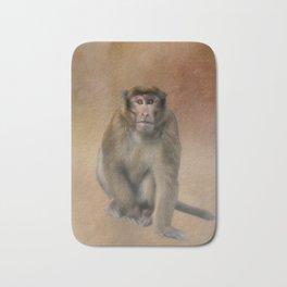 Brown Monkey in Bhutan Bath Mat