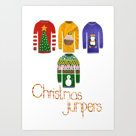 Christmas jumpers  Art Print