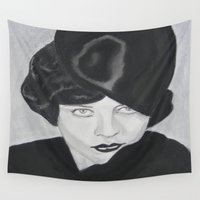 silent Wall Tapestries featuring Silent Glamour by Cindy's Art