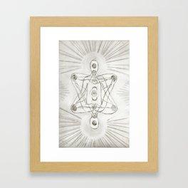 Samadhi white Framed Art Print