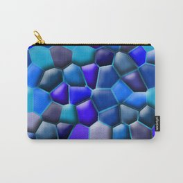SHADES OF BLUE COBBLESTONE ROCK PATTERN  Carry-All Pouch