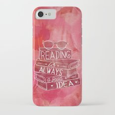 Reading is Always a Good Idea - Red iPhone 7 Slim Case