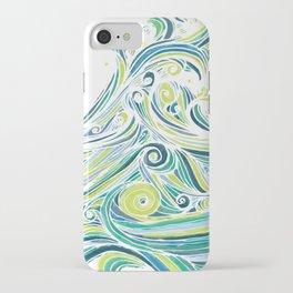 Crashing Wave Tangle - White iPhone Case