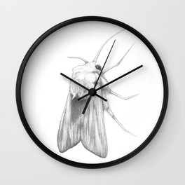 Moth  Wall Clock