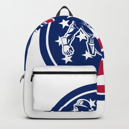 American Lineworker USA Flag Icon Backpack