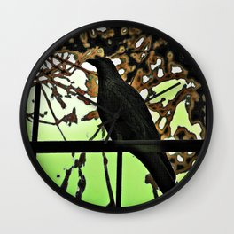 ...  the crow  ... Wall Clock
