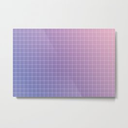 purple / pink - grid Metal Print