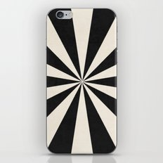 black starburst iPhone Skin