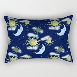 Antique Sun Rectangular Pillow