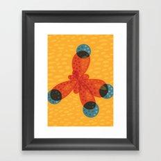Orange Methane Molecule Framed Art Print