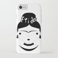 frida iPhone & iPod Cases featuring Frida by stavrina inno