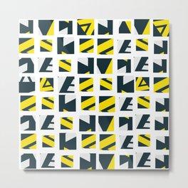 Geometric art pattern 4 Metal Print