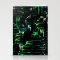 green lantern Stationery Cards featuring Lantern - green by Emma Stein