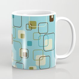 Mid-Century Modern Hep Cat (teal) Coffee Mug