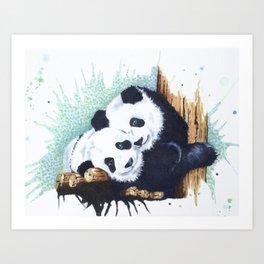 The Panda Couple Art Print