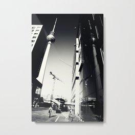 Berliner Straßen Fotografie am Alexanderplatz Foto 2012 Metal Print