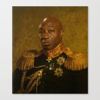 replaceface Canvas Prints featuring Michael Clarke Duncan - replaceface by replaceface