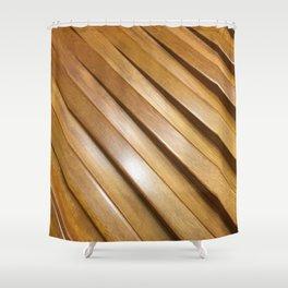 Wood Gaps. Fashion Textures Shower Curtain