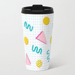 Geometric Memphis Travel Mug
