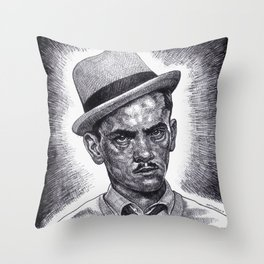 Don't Double Cross 'The Wise Guy'!!! Throw Pillow
