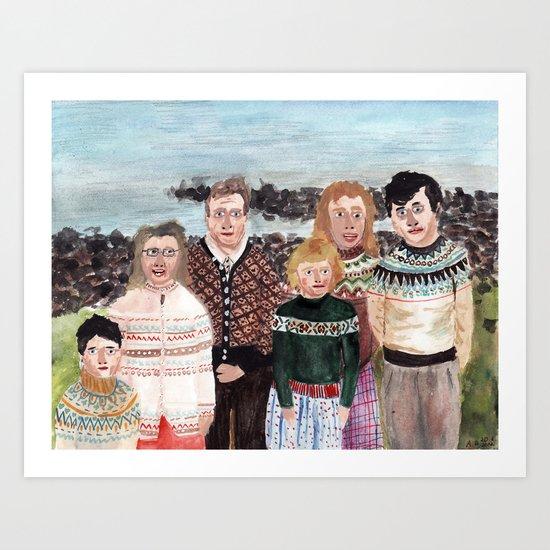 Norwegian Family Art Print