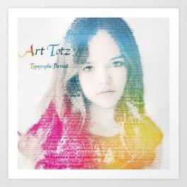Typographic Portrait Art Print