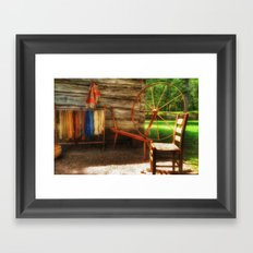 Yarnwork at the Mabry Mill Framed Art Print
