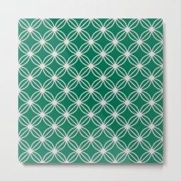 Abstract Circle Dots Green Metal Print