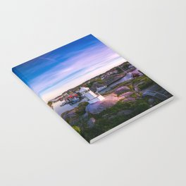 Sunset over old fishing port - Aerial Photography Notebook