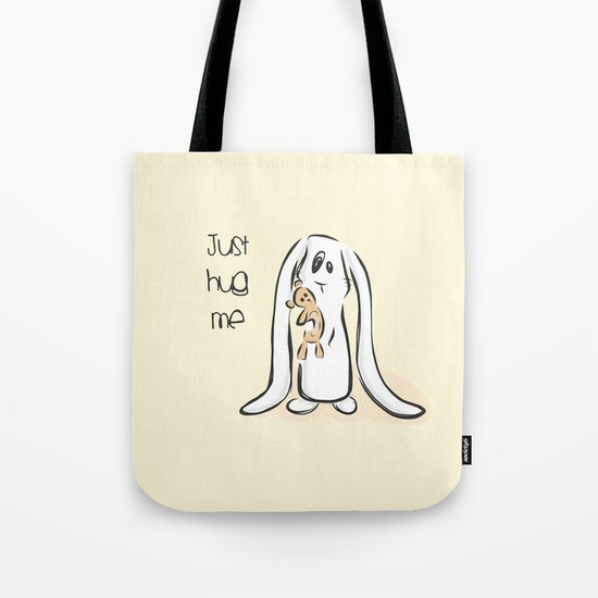 Just Hug Me Tote Bag