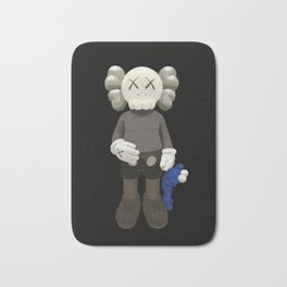 Watercolor Kaws with cookie monster Bath Mat