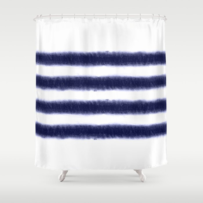 Indigo Stripes Shower Curtain