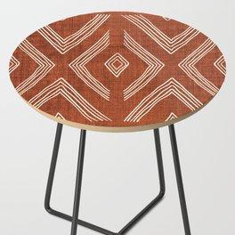 Birch in Rust Side Table