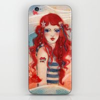 pirate iPhone & iPod Skins featuring Pirate by Minasmoke