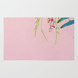 Pink / Green Rug