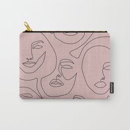 Blush Faces Carry-All Pouch
