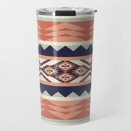 Native American Geometric Pattern Travel Mug