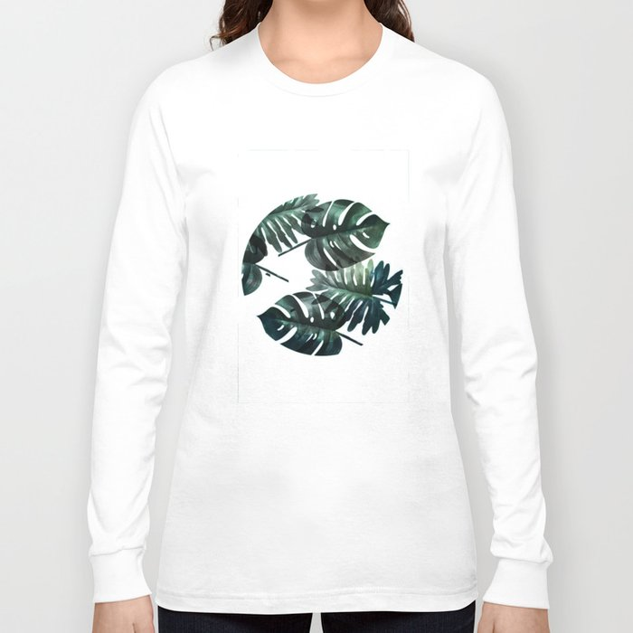 Leafs . Minimal Long Sleeve T-shirt