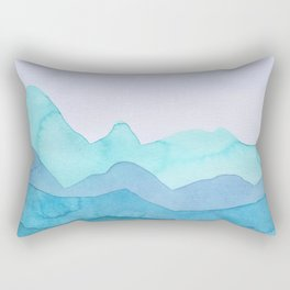 Turquoise Mountains Rectangular Pillow