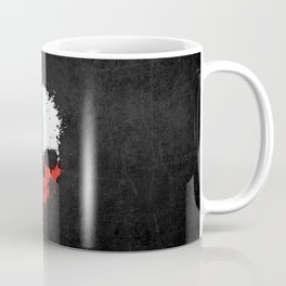 Flag of Texas on a Chaotic Splatter Skull Coffee Mug
