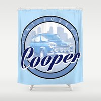 dale cooper Shower Curtains featuring Cooper by Barbo's Art