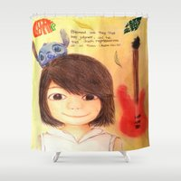 cherry Shower Curtains featuring Cherry by FelixIp