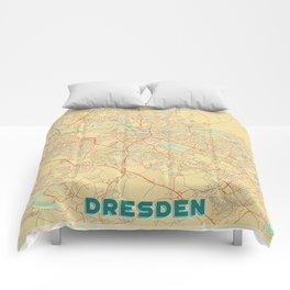 Dresden Map Retro Comforters