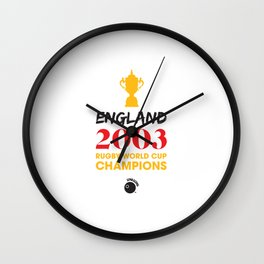 Rugby World Cup Champions — England Rugby Union side (The Red and Whites) Wall Clock
