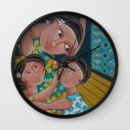 """""""Our Home Is Safe"""" Wall Clock"""